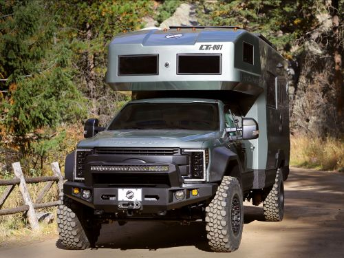 This $590,000 camper van made of carbon fiber was built on a Ford F-550 and can sleep 4 adults - see inside
