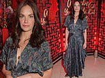 Ruth Wilson looks boho chic in a paisley print dress at Annabel's