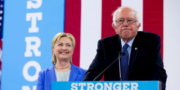 Hillary Clinton said she 'wasn't thinking about the election by any means' when she said 'nobody likes' Bernie Sanders