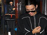 Kendall Jenner kicks back after glam party with her sisters as spotted leaving hotel in a tracksuit