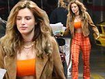 Bella Thorne, 20, is 1970s chic in fiery tartan trousers as she steps out with beau Mod Sun, 31