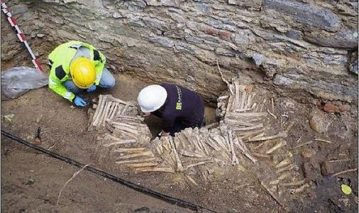 Archeology shock: Ancient wall made of human bones and skulls discovered in Belgium