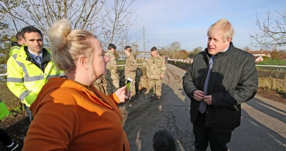 Boris Johnson heckled as he visits flood victims in South Yorkshire