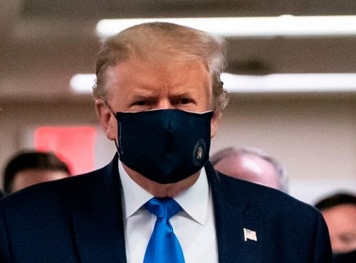 Donald Trump finally wears a mask in public 'but it's four months too late'