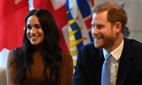 Prince Harry and Meghan Markle react to Princess Eugenie's royal baby news