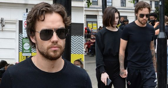 Liam Payne and girlfriend Maya Henry step out hand-in-hand to join Black Lives Matter protest in Hyde Park