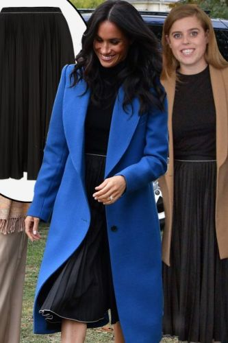 Meghan Markle and Princess Beatrice wear the exact same designer skirt in the same week - here's where to buy it
