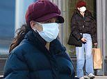 Katie Holmes rocks a red newsboy cap as she enjoys NYC outing without beau Emilio Vitolo Jr
