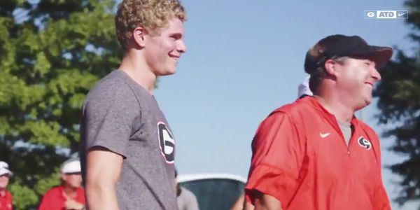 Track sensation Matthew Boling was used as a ringer in a race between University of Georgia football players and coaches and recreated one of his iconic finishes