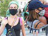 Cara Delevingne and Kaia Gerber join thousands marching at Black Lives Matter protest in LA