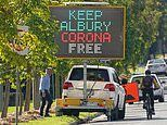 Two people test positive for coronavirus in the New South Wales-Victoria border town of Albury