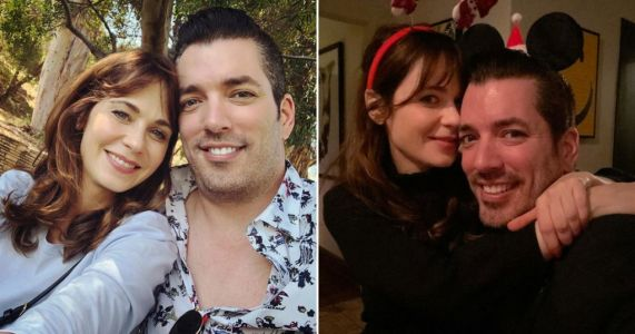 Zooey Deschanel celebrates one year anniversary with Property Brothers star Jonathan Scott
