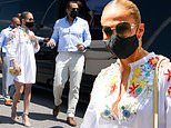 Jennifer Lopez brings the glam as she and fiance Alex Rodriguez tour the NY Mets' Citi Field