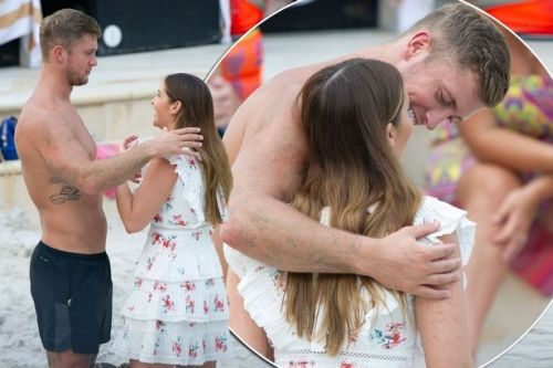 Jacqueline Jossa and Dan Osborne get very close hours after jungle win despite threesome slurs