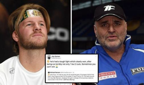 Ben Davison hits back at John Fury after Tyson Fury's win over Otto Wallin