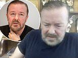 Ricky Gervais left in agony after tweaking an existing back pain while tying his shoelace