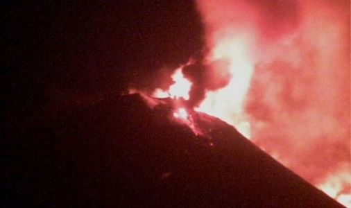 Volcano news: Mount Etna bursts into life with 'near constant' flow of lava