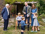The Cambridges and Sir David Attenborough all wear blue at screening of Life On Our Planet