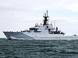 Royal Navy sends NINE ships to shadow seven-strong Russian warship fleet active in UK waters