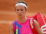Former world No 1 Victoria Azarenka storms off the court on first day of the French Open