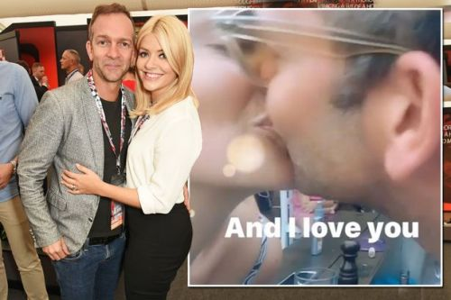 Holly Willoughby kisses husband Dan Baldwin in romantic video and who said Valentine's Day was over?