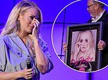 Carrie Underwood sheds happy tears when she gets surprise with a platinum album for Cry Pretty