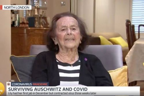 GMB fans wowed by 'formidable' Auschwitz survivor, 97, who contracted Covid