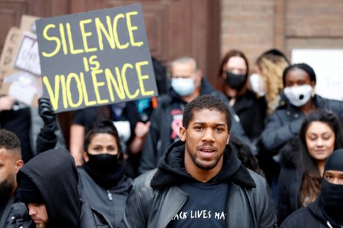 Anthony Joshua joins Watford Black Lives Matter protest despite crutches