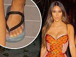 Kim Kardashian is accused of having SIX TOES in snaps from THAT controversial birthday getaway