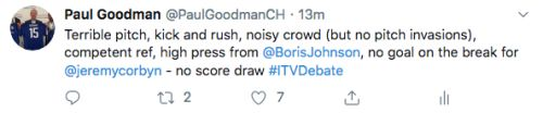 The first leaders TV debate. Why a draw was always going to be a win for Johnson. And how a draw is what he got