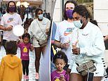 Serena Williams steps out for ice cream with husband Alexis Ohanian and daughter Olympia in Rome