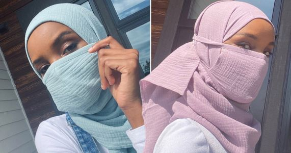 Model Halima Aden designs face masks for frontline health workers who wear hijabs