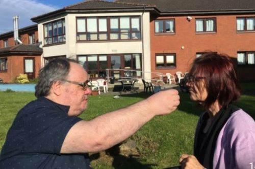 Joy for families of East Kilbride care home residents as restrictions ease