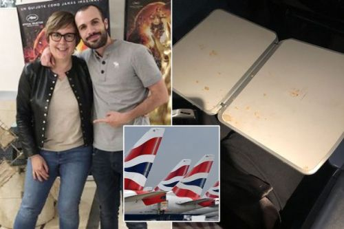 BA passenger's disgust after finding old sock in 'filthy' premium economy seat