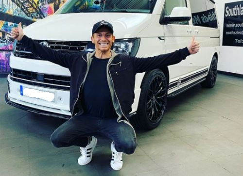 Joe Swash surprises Stacey Solomon with giant camper van - which she calls a 'monstrosity'