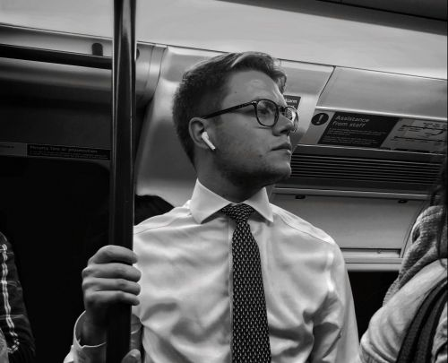 Photographer captures the reality of Londoners' commutes on the Tube with candid portraits