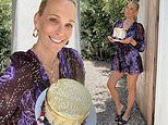 Molly Sims flaunts her legs in party dress as she celebrates her 47th birthday at home
