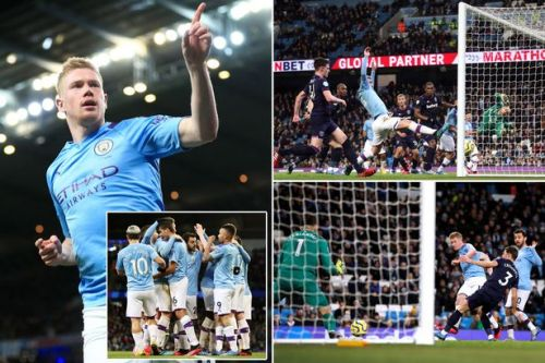Kevin de Bruyne masterclass fires Man City past West Ham but crowd mirrors significance of contest