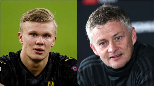 Ole Gunnar Solskjaer sends message to former Manchester United target Erling Haaland over Champions League records