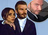 Victoria Beckham cosies up to husband David at Dior fashion show in Paris