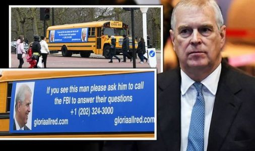 Prince Andrew shamed outside Buckingham Palace by US bus advert ordering him to call FBI