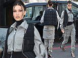Bella Hadid makes a style statement in bulletproof-inspired vest as she steps out during PFW Men's