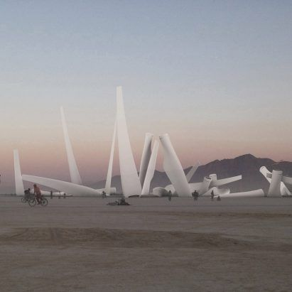 Michael Mannhard proposes Burning Man installation that uses wind turbine blades