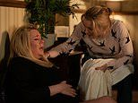 EastEnders SPOILER: Sharon Watts gives birth after being held at gunpoint by Ben Mitchell