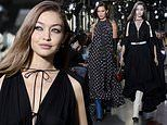 Gigi Hadid storms the catwalk with sister Bella at Lanvin's Paris Fashion Week Men's presentation