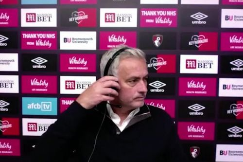 Jose Mourinho walks out of press conference after Tottenham draw at Bournemouth