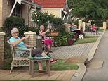 Fair drink-um! Retirement village residents hold a social distancing street party