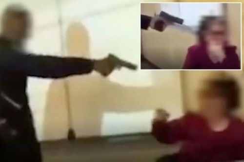 Terrifying moment French schoolboy 'points gun at teacher's head as if to execute her'