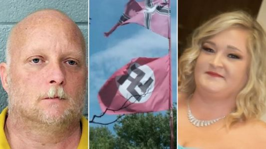 Neo-Nazi 'shot woman in the back three times for stealing his swastika flag'