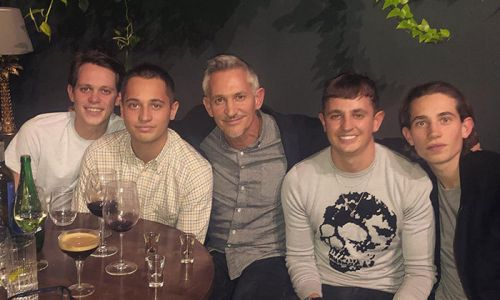 Gary Lineker shares rare photo with all four of his lookalike sons